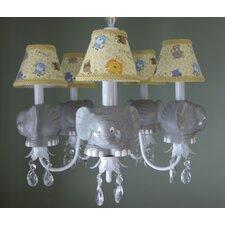 Elephant Parade 5 Light Chandelier