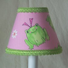 "5"" Leapin Frogs Fabric Empire Candelabra Shade"