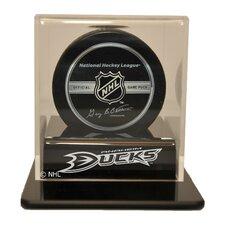 "NHL 4.25"" Single Hockey Puck Display Case"