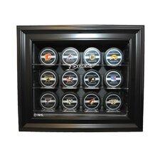 NHL Twelve Puck Cabinet Style Display Case in Black