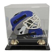 NHL Mini Hockey Helmet Display Case in Horizontal View