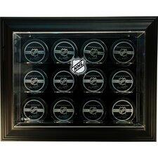 "NHL Twelve Puck ""Case-Up"" Logo Display Case"