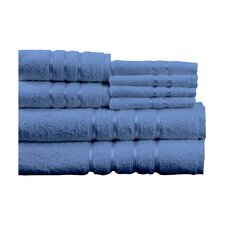 100% Egyptian Cotton Plush 8 Piece Towel Set