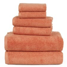 Zero Twist 6 Piece Towel Set