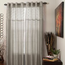 Sonya Sheer Single Curtain Panel with Grommet Top