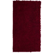 High Pile Burgundy Area Rug