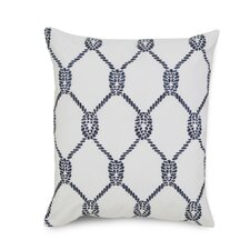 Breakwater Embroidered Rope Cotton Throw Pillow