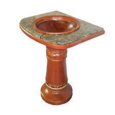 "27"" Drop-in Bowl Square Frame Columbia Mahogany Pedestal Sink"