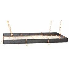 Rectangular Hanging Pot Rack with Grid