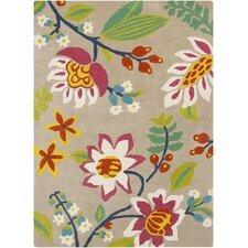 Sanderson Cherry/Gold Floral Area Rug