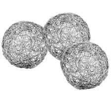 3 Piece Wire Ball Sculpture Set