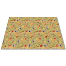 Animal Doodles Tan Area Rug