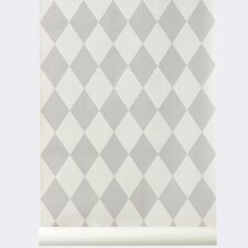 "Ferm Living WallSmart Hand Printed 32.97' x 20.87"" Geometric Wallpaper"