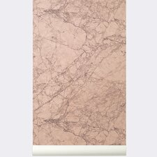 "Ferm Living WallSmart Marble 32.97' x 20.87"" Wallpaper"