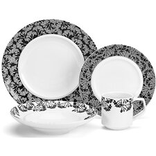 Juine Elite Porcelain 16 Piece Dinnerware Set