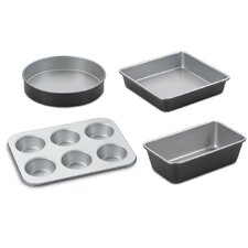 Chef's Classic Aluminum Metal 4 Piece Bakeware Set