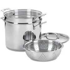 Chef's Classic 4 Piece 12 Qt. Stainless Steel Pot Set