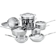Chef's Classic Stainless Steel 14 Piece Cookware Set in Stainless Steel