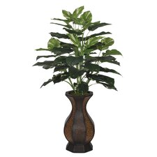 Artificial Pothos Floor Plant in Decorative Vase