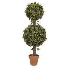Artificial Double Boxwood Ball Topiary in Pot