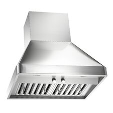 """Brillia 48"""" 1200 CFM Ducted Wall Mounted Range Hood in Stainless Steel"""