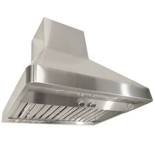 """Brillia 36"""" 760 CFM Ducted Wall Mounted Range Hood in Stainless Steel"""