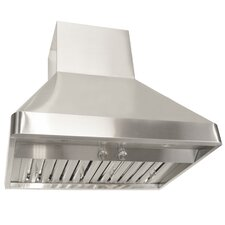 """Brillia 42"""" 1200 CFM Ducted Wall Mounted Range Hood in Stainless Steel"""
