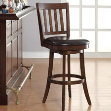 "Mission 30"" Swivel Bar Stool with Cushion"