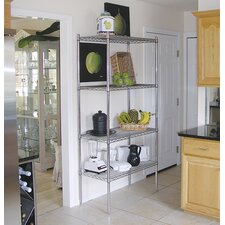 Wire Storage 4 Shelf Shelving Unit Kit