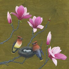 """Nest Among Blossoms"" by Kate Halpin Graphic Art on Canvas"