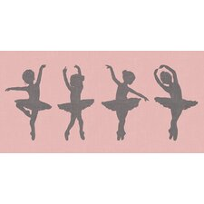 """Ballerina Girls"" by Patti Rishforth Graphic Art on Canvas"
