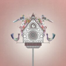 """Floral Bird House"" by Harriet Mellor Graphic Art on Canvas"