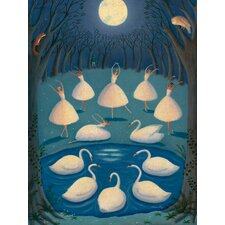 """Swan Lake"" Ballerinas by Alison Jay Graphic Art on Canvas"