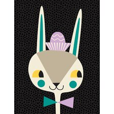 """Modern Bunny"" by Amy Blay Graphic Art on Canvas"