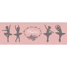 """Ballerina Girls Personalized"" by Patti Rishforth Graphic Art on Canvas"