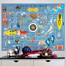 """Sports Of The World"" by Daviz Wall Mural"