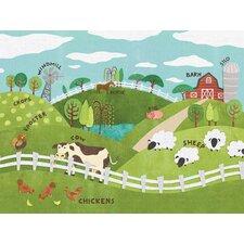 Animals On The Farm Canvas Canvas Art