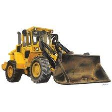 Classic Yellow Bulldozer Peel and Place Wall Decal