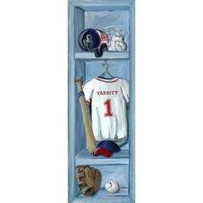 Baseball Lockers Canvas Art