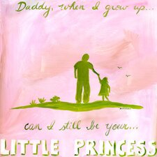 Daddy's Little Princess Canvas Art
