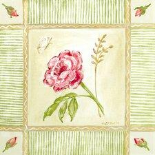 Cottage Rose - Left Leaning Canvas Art
