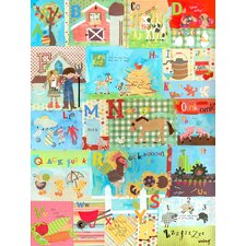 Barnyard Alphabet Canvas Art