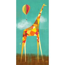 Too Tall Giraffe Canvas Art