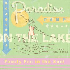 Paradise Camp Water Ski Canvas Art