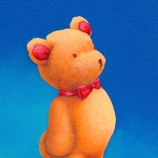 Bow Tie Bear Canvas Art