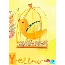 Yellow Bird Canvas Art