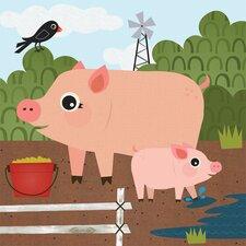 Pig Pen Canvas Art
