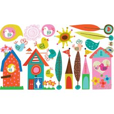 Backyard Birdhouses Peel and Place Wall Decal Set