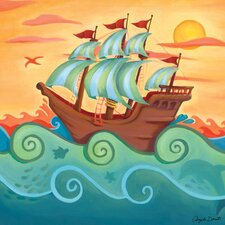 Pirate Ship Canvas Art