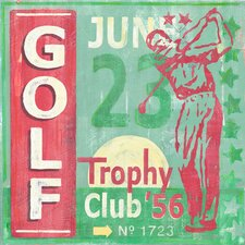 Golf Classic by Roger Groth Vintage Advertisement on Wrapped Canvas